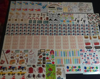 4 Sheets FMI Frances Meyer Scrapbook Stickers Lucy Rigg Our Baby 4 12 x 5 Sheets Joy New Baby Stickers