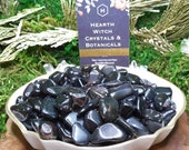 Black Obsidian Stones 1-2cm Tumbled Smooth Volcanic Glass Subconscious Healing