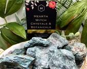 Fuchsite Crystal Mine Run Rough Stone 5cm Green Mica Self-Worth Tension Wellness