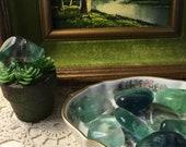 Fluorite Green Stone - Stabilization Healing Order Pocket Rock - Crystal