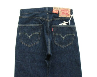 65a6f730 1955 501xx Levis vintage clothing shrink to fit red line selvedge indigo  denim from Cone Mills red tab big E