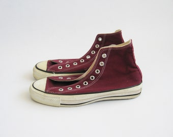 64f9cd4c1783 80s vintage Converse Chuck Taylor All Star hi tops made in USA size 7 1 2