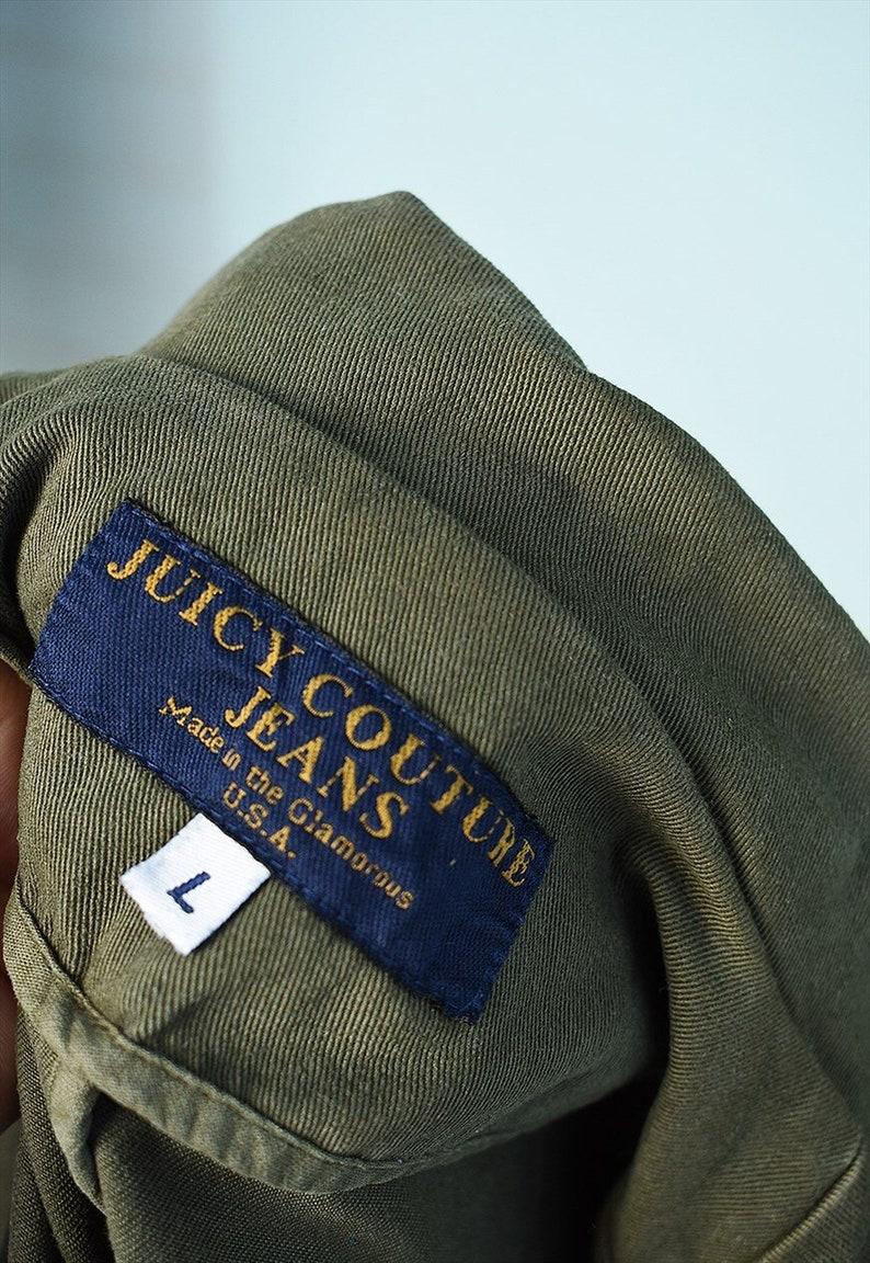 Vintage 90s Y2K JUICY COUTURE cargo denim blazer jacket