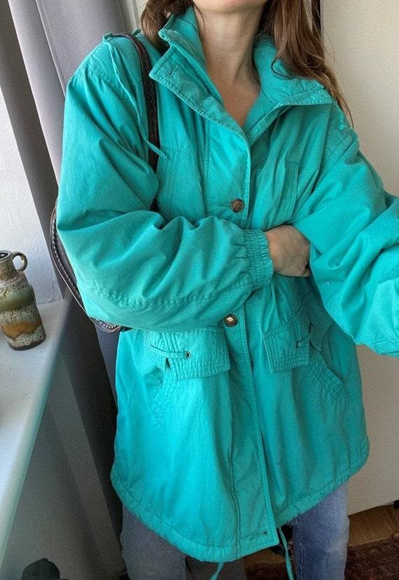 Vintage 80s oversized puffer parka jacket coat gre