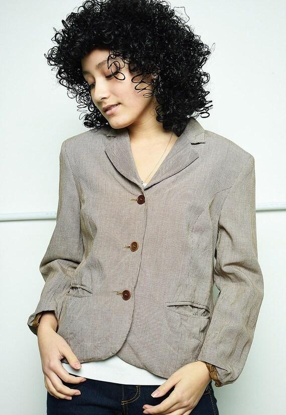 Vintage 40s SISLEY dogtooth pattern classy jacket