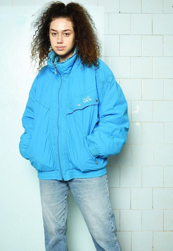 Vintage 80s puffer skiing coat bomber jacket overs