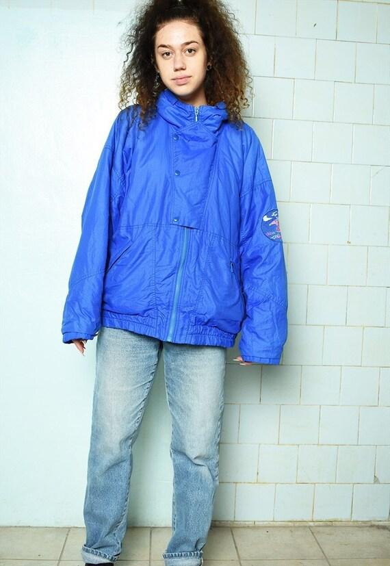 Vintage 80s puffer skiing coat bomber jacket parka