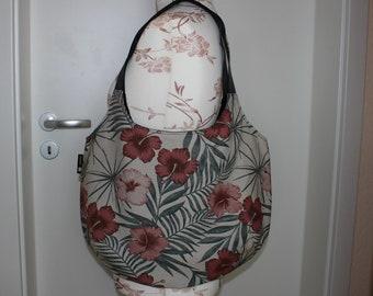 Shopping bag /-bag hibiscus