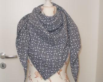 Muslincloth Klara double layer XXL grey with drop