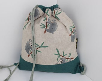Children's backpack / gym bag Koala (with or without name)