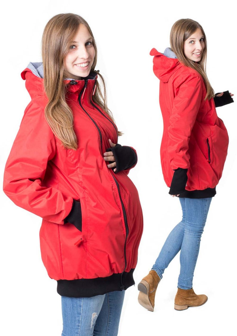 GoFuture\u00ae 4in1 Babycarrying Babywearing jacket Shell Concordia Maternity jacket multifunction Belly to baby  handmade with love by GoFuture
