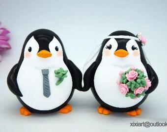 Penguin wedding cake topper | Etsy