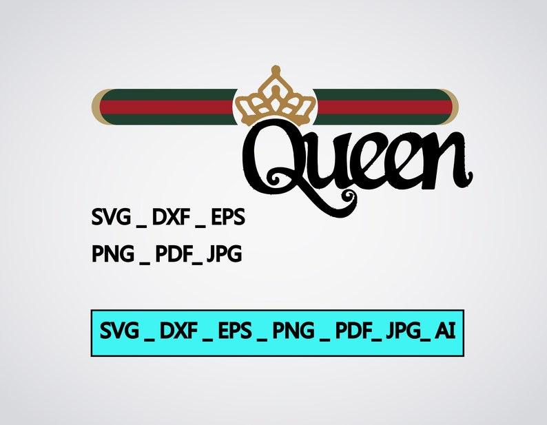 303f665f8e53f Gucci queen high quality Svg Fashion Inspired Logo Vector Art