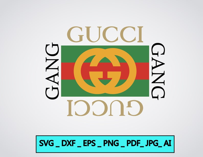 6c5aff45354 Gucci Gang high quality Svg Fashion Inspired Logo Vector Art