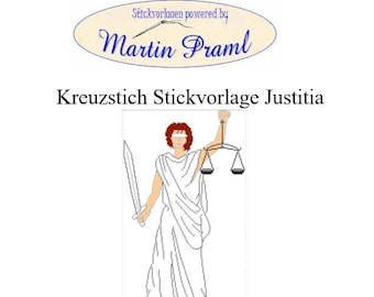 Justitia-Cross Stitch Template