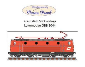 ÖBB electric locomotive BR 1044-Cross stitch template-cross stitch template