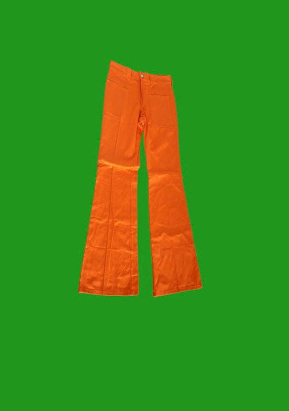 hot ORANGE vintage pants 90's