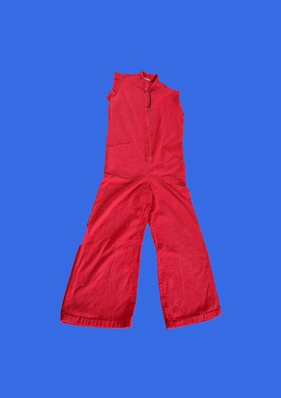 VINTAGE JUMPSUIT - cordial ribbed velvet RED jumps
