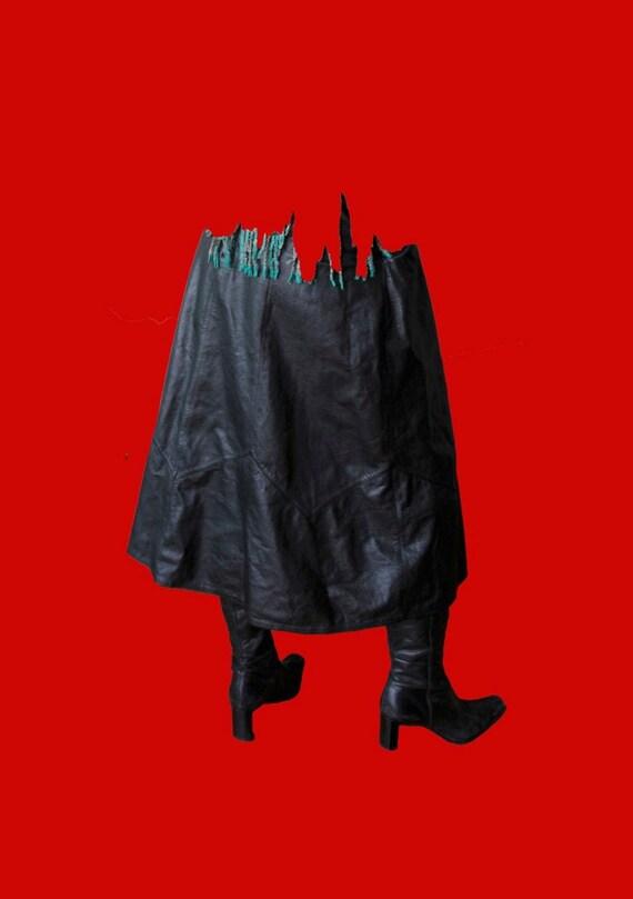 Full leather vintage skirt