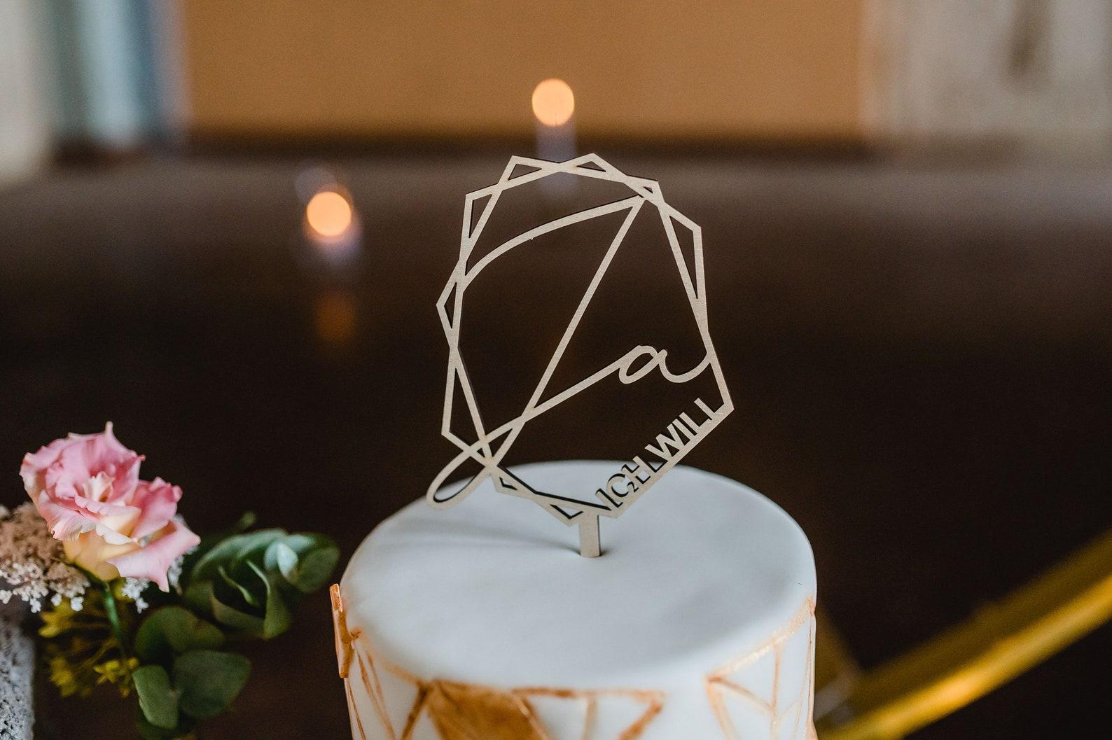 Cake Topper geometrisch