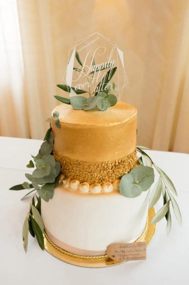 Acryl Cake Topper Hochzeit