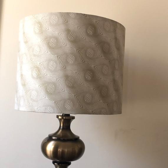 "DIY Lamp Shade Making Material White Self Adhesive Styrene Sheet Drum 45.5/"""