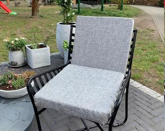 Lounge garden chair lounge chair metal with pillow