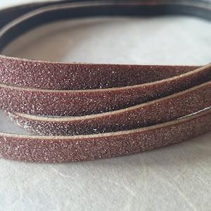 3m Velour Nappa Öko Lederband Velourleder Velourband Imitation 2,7mm