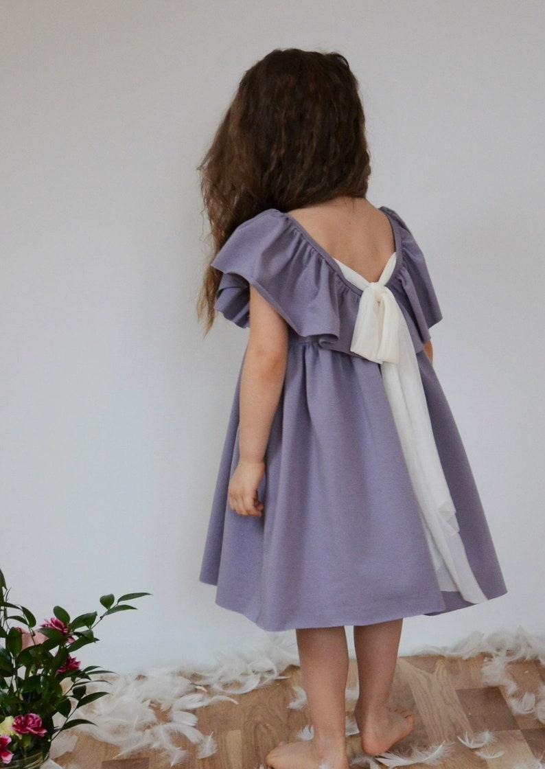 34f68e8695 Sukienka Dla dzieci. Sukienka z falbanką dziewczynki. Boho