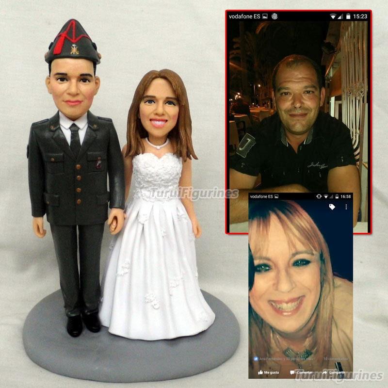42c82dae792 Custom bobblehead figurines cake topper wedding resin cake