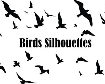 graphic relating to Bird Silhouette Printable identified as Hen silhouette Etsy