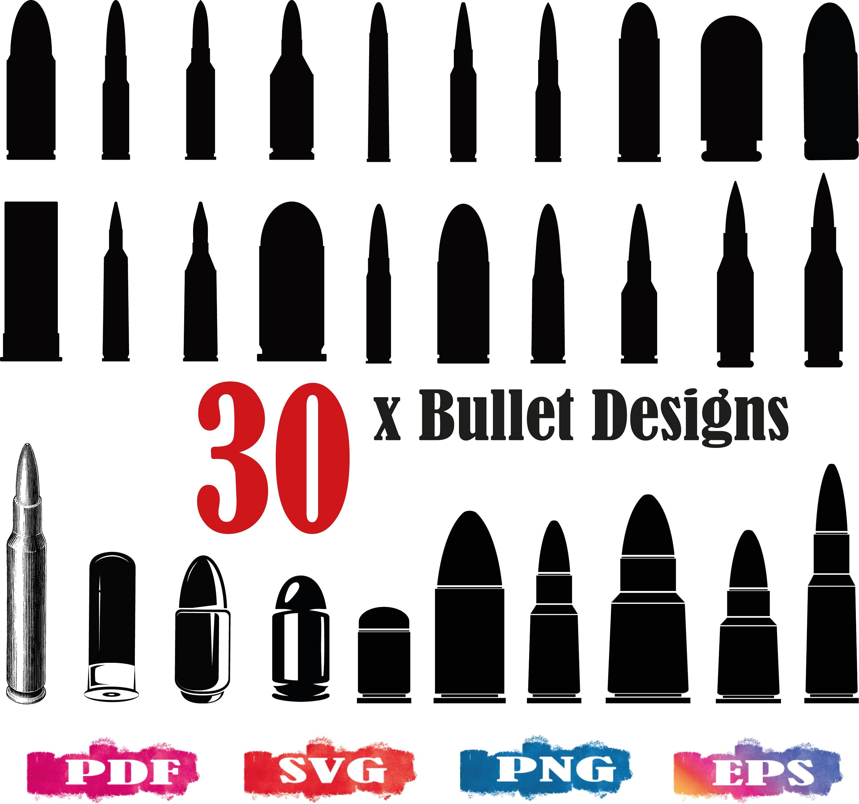 bullet design hand drawn bullet PNG Eps 22 x Bullets Silhouette Bullet SVG Pdf