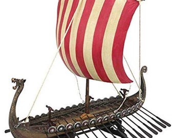 SPECIAL - Copy of a museum replica cast in resin of a Viking long boat.