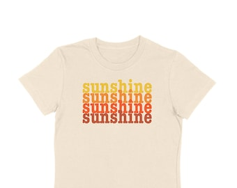 daa9ce990 Sunshine Retro Style Graphic Tee | Positive Words Printed Tshirts | Tees  with Sayings | Vintage Inspired | Ringer | 60s 70s 80s | Espi Lane