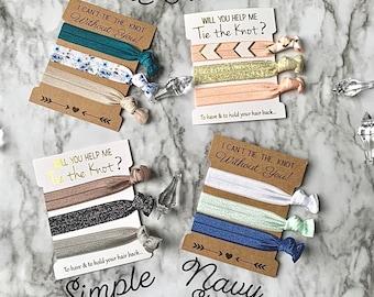 Custom Bridesmaid hairties, hair ties, bridesmaid hair ties, bridesmaidgift, bridesmaid proposal gift, bridesmaid gift ideas