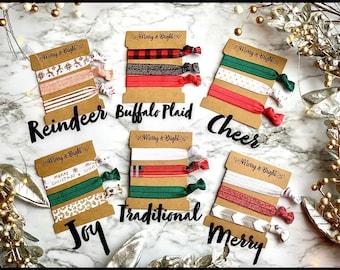 Christmas hair ties, cheap Christmas gift, stocking stuffer, stocking stuffers, Sorority sister Christmas gift