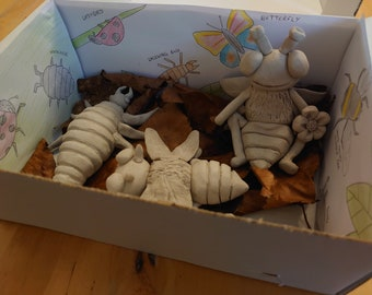 Bug box, family home pottery kit, DIY craft at home, takeaway clay fun