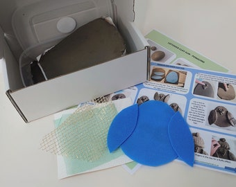 Christmas penguin/ robin home pottery kit, DIY craft at home, takeaway clay fun