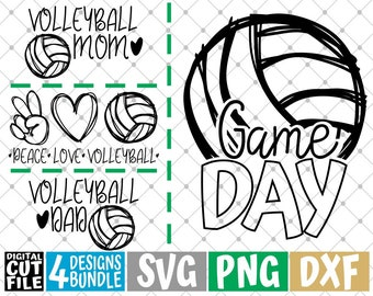 Monogram svg Clip art Volleyball team svg Cut File Sport svg Volleyball svg Silhouette eps Ball svg dxf Bow svg Cricut Girl svg