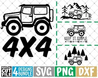 CUT READY offroad 4x4,SVG,dxf,vector file,plasma cutting,cricut,tshirt,clipart,gift,laser,glowforge,silhouette