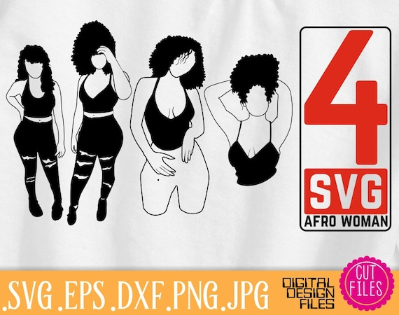 4X Sexy Afro Black Woman Bundle Svg Hairstyle Woman Svg  Etsy-9013
