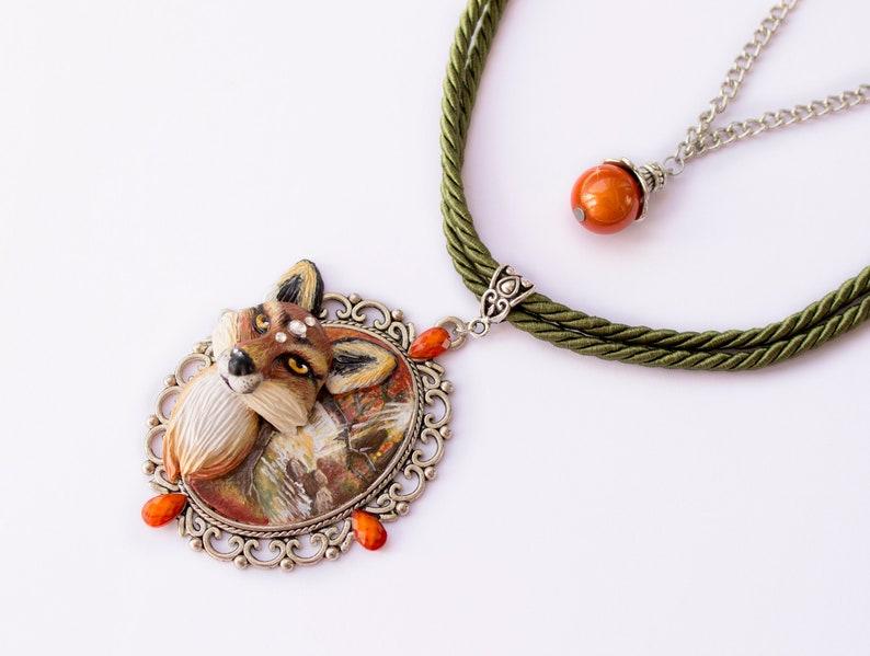 468a57c0f3ba2 Fox necklace - Kitsune necklace - Fox jewelry - Nine-tailed fox - Forest -  Nature - Mystic jewelry - Animal necklace
