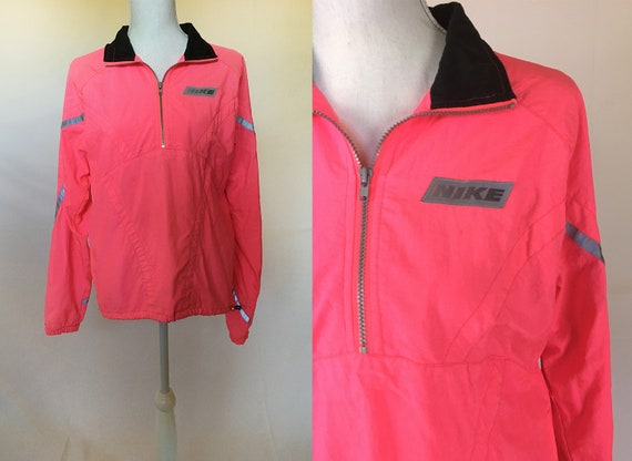 1990's Nike color block silver tag label sports windbreaker