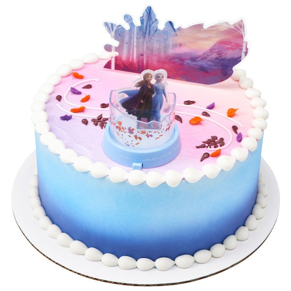 Swell Frozen Ii Mythical Journey Cake Topper Anna And Elsa Topper Etsy Funny Birthday Cards Online Fluifree Goldxyz