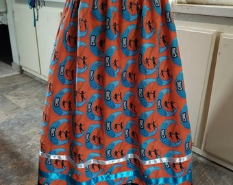 """Custom Ribbon Skirt with Custom Printed Fabric Of The Painting """"You Are Loved Never Forgotten"""""""