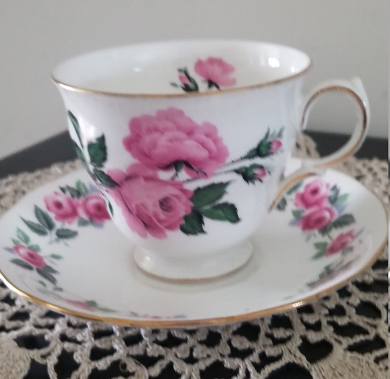 Queen Anne Teacup and Saucer from England