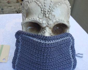 Chameleon Essentials custom crochet adjustable fit mask w / filter pocket and adjustable fit - Dark Gray M1