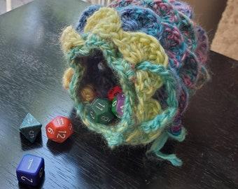 Soft Rainbow Dragon Egg Dice Bag