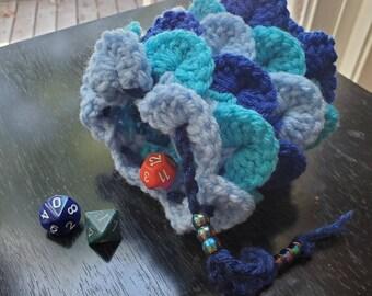Blue Scale Dragon Egg Dice Bag