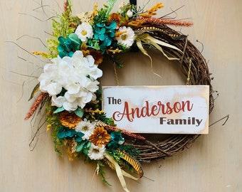 Fall Family Wreath